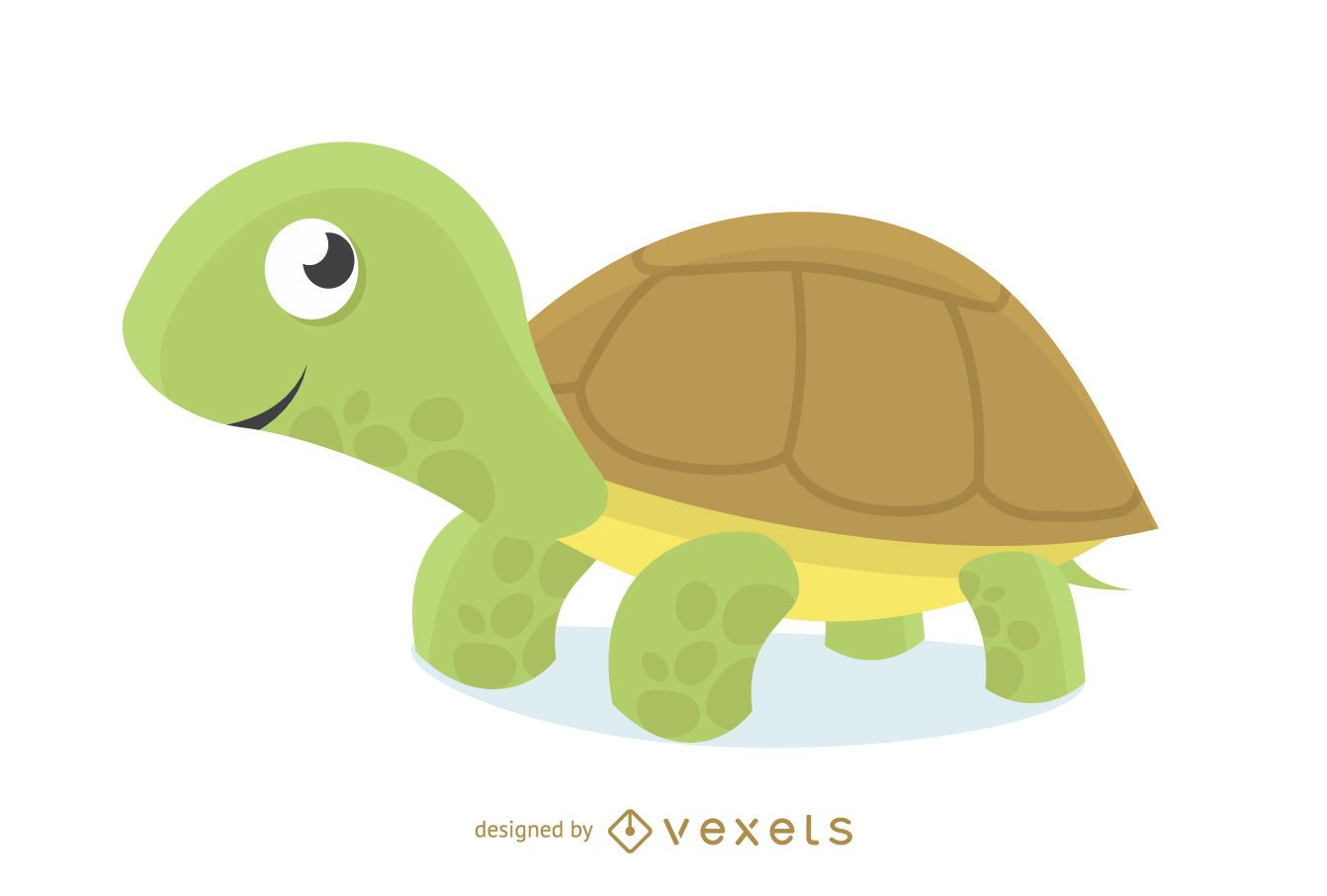 Dibujos animados de ilustraci?n de tortuga amigable