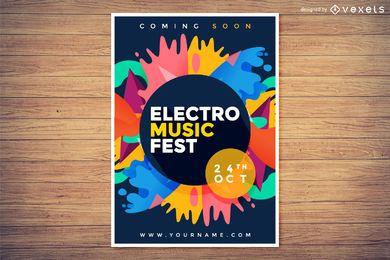 Electro festival de música poster