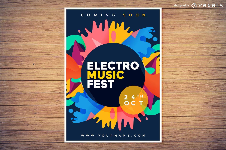 Cartel del festival de música electro