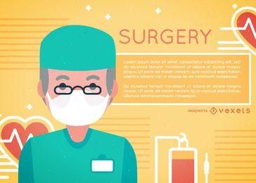 Hombre cirujano ilustración