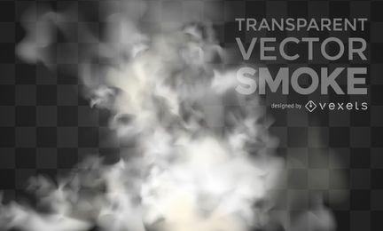 Transparente humo vector realista