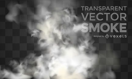 Vetor transparente fumaça realista