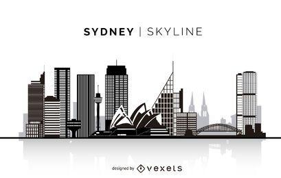 Silueta de Sydney horizonte