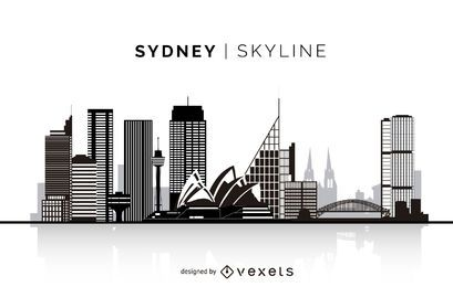 Sydney silhouette skyline