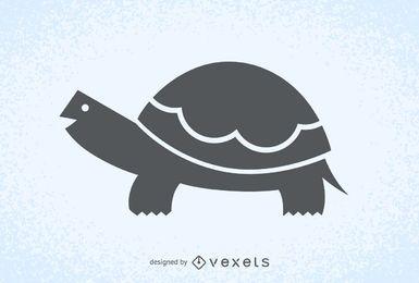 Logotipo da silhueta da ilustração da tartaruga