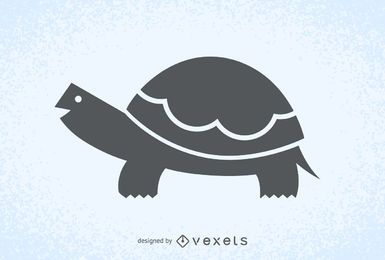 Turtle illustration silhouette logo