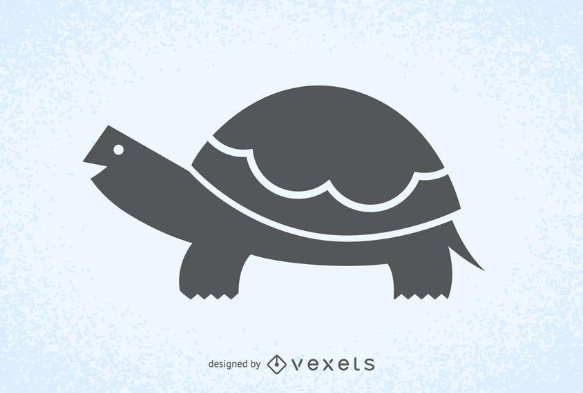 Tortuga Ilustración Silueta Logo Descargar Vector