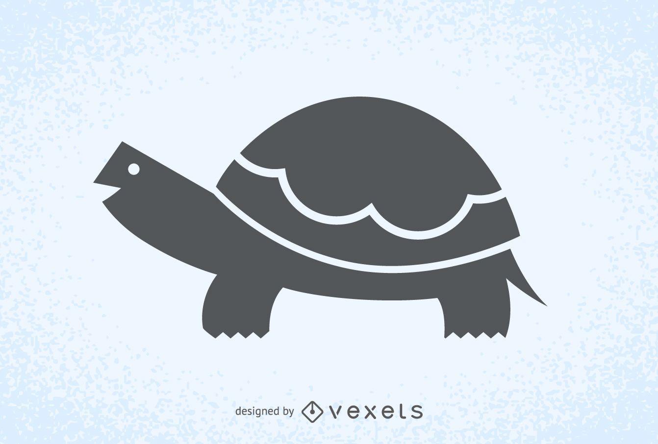 Schildkrötenillustrationsschattenbildlogo