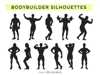 Bodybuilder silhouette collection