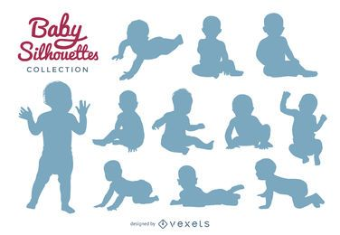 Baby silhouettes collection