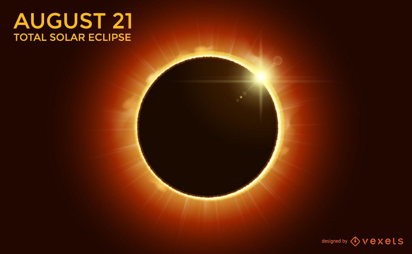 Diseño de eclipse solar total