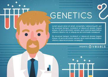 Design de ilustração do médico