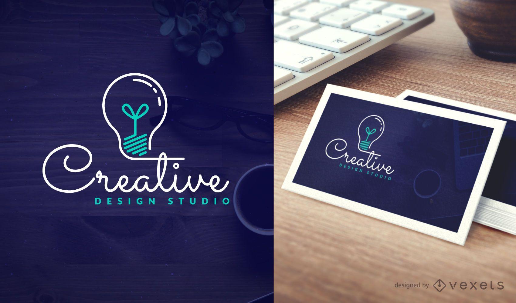 Modelo de logotipo do estúdio de design criativo