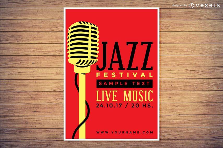 Design de cartaz do Festival de Jazz