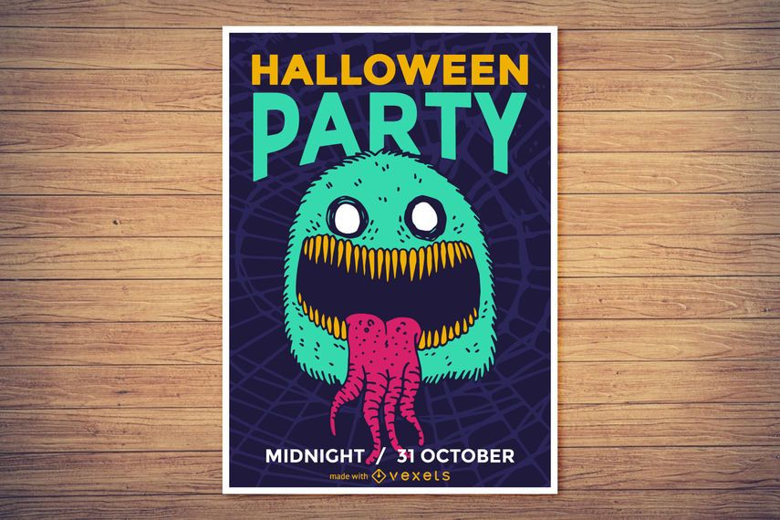 Spooky Halloween poster maker