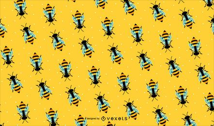 Bee pattern background