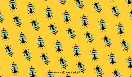 Bienenmusterhintergrund