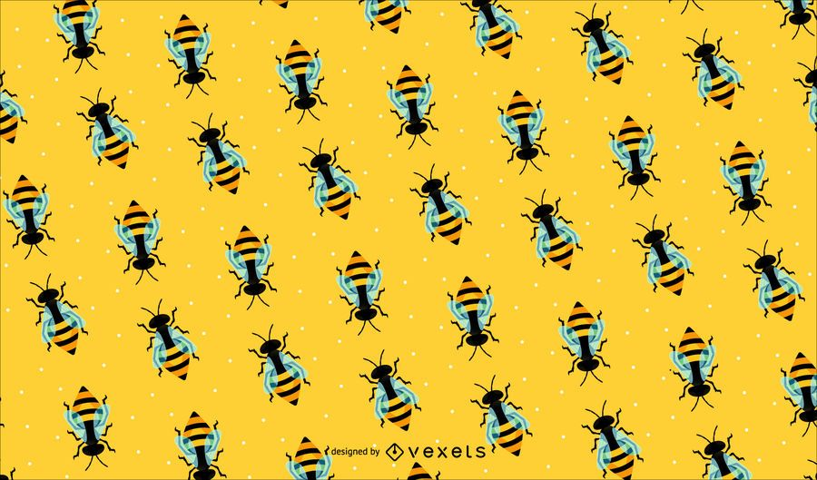 Bee Pattern Background Vector Download Inspiration Bee Pattern