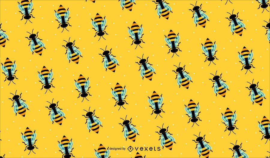 Fundo de padrão de abelha