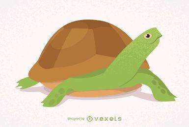 Tartaruga ilustrada e isolada