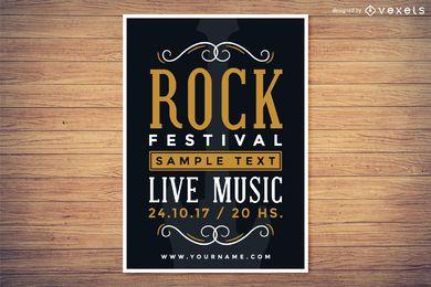 Cartaz do festival de rock