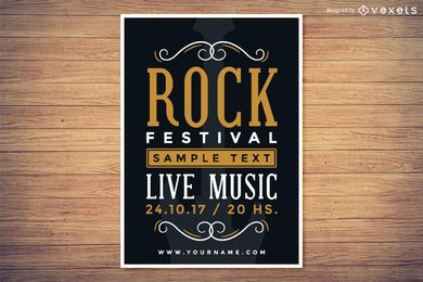 Cartel del festival de la roca