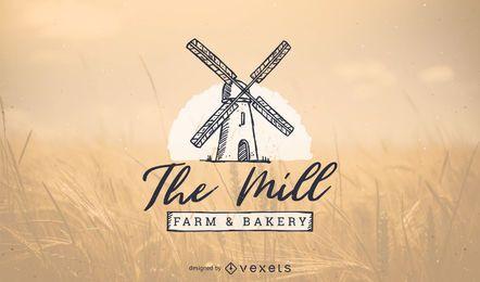 Diseño de la plantilla de logotipo de panadería
