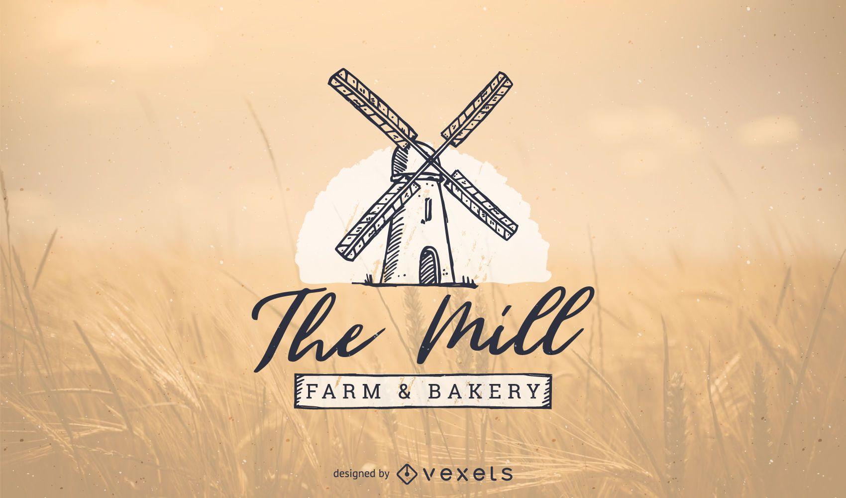 Diseño de plantilla de logotipo de panadería