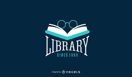 Diseño de la plantilla del logotipo de la biblioteca
