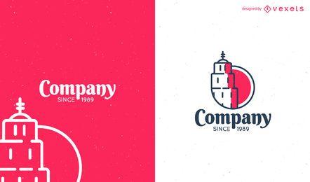 Diseño de plantilla de logotipo plano