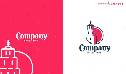 Flat logo template design