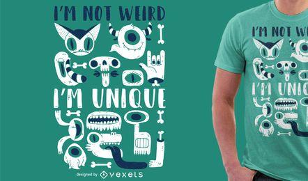 Diseño de la camiseta de la ilustración del monstruo
