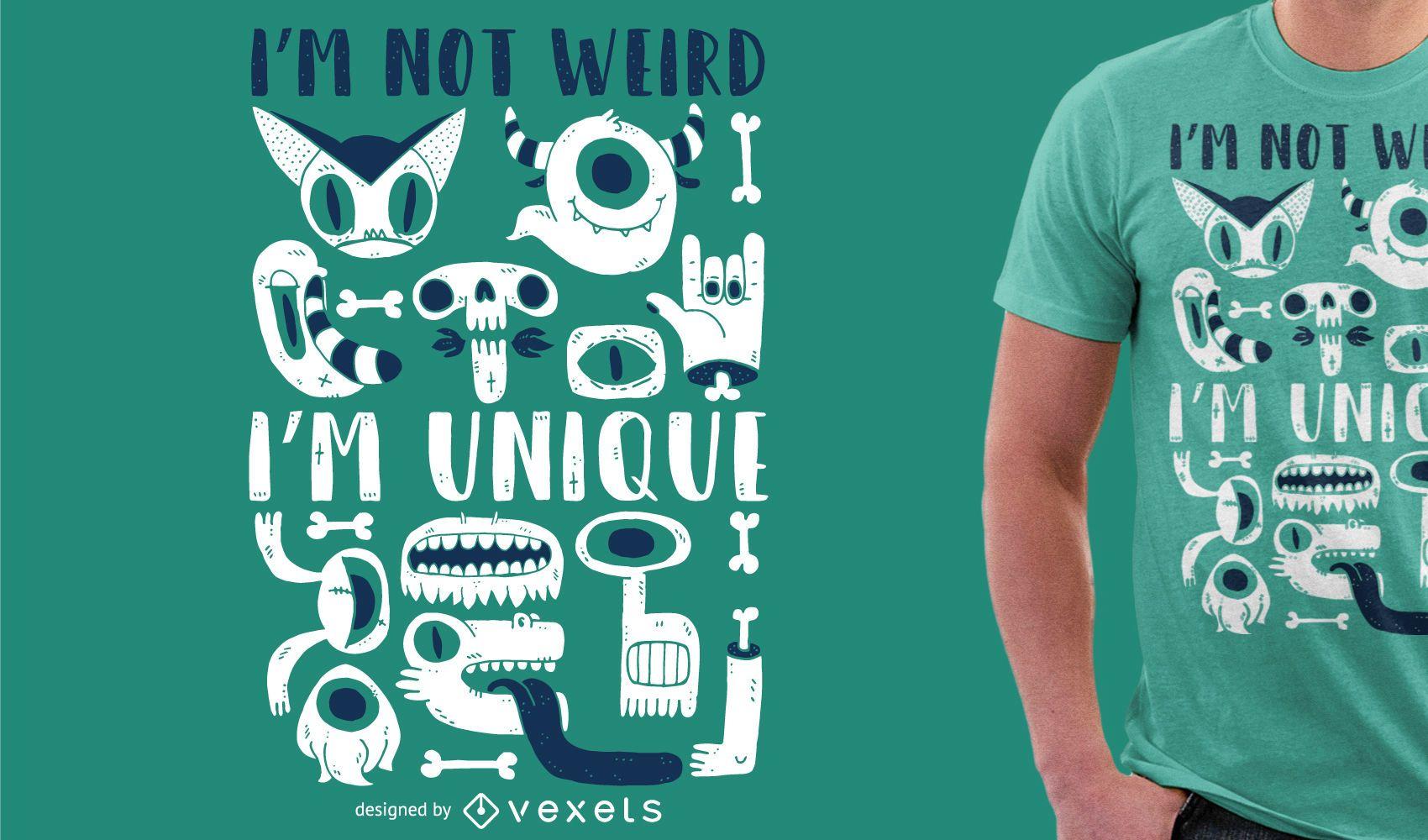 Desenho de camiseta com ilustração de monstro