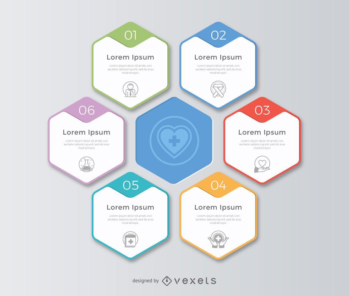 Waben-Infografik-Vorlage
