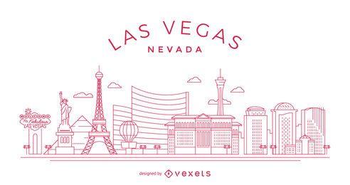 Skyline de traçado de Las Vegas