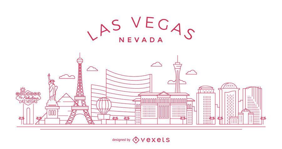 Las Vegas stroke skyline
