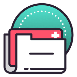 Carpeta de historial de registro de archivo médico