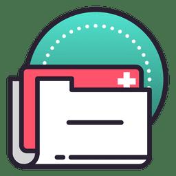 Medical file record history folder