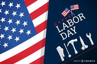 Diseño feliz patriótico del Día del Trabajo