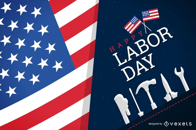 Patriotic happy Labor Day design