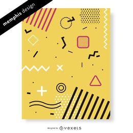Fun memphis design em amarelo