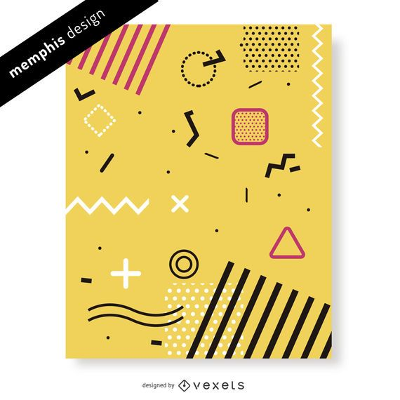 Fun memphis design in yellow