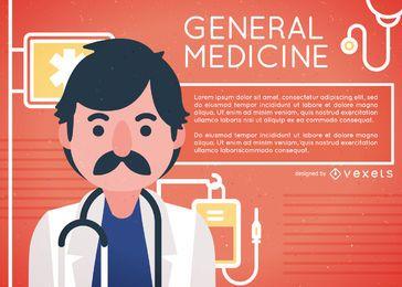 Design de ilustração de medicina geral