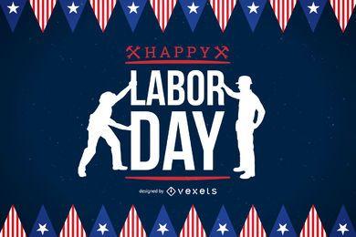 Póster de celebración del Día del Trabajo