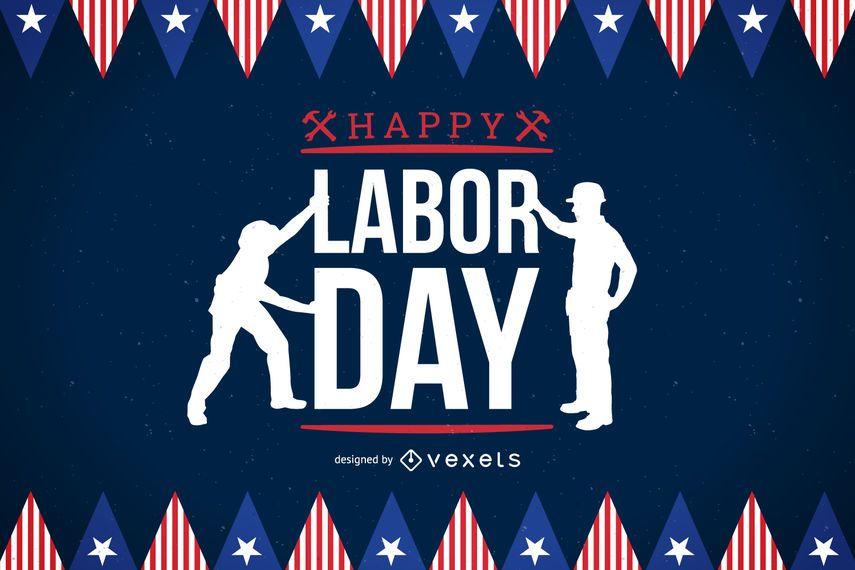 Labor Day celebratory poster
