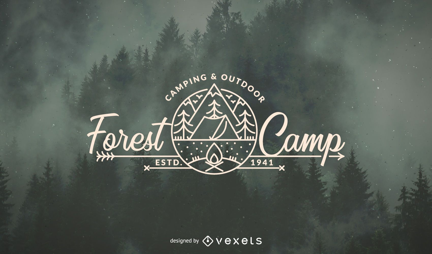 Camping Forest Logo Template Vector Download