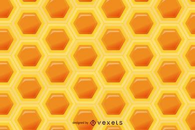 Padrão sem emenda do favo de mel