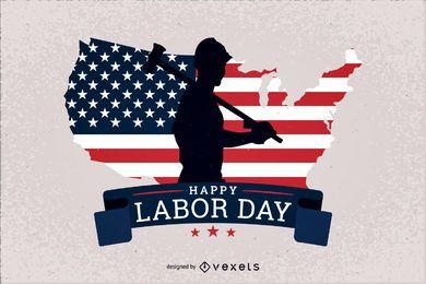 Diseño patriótico del Día del Trabajo de los EEUU