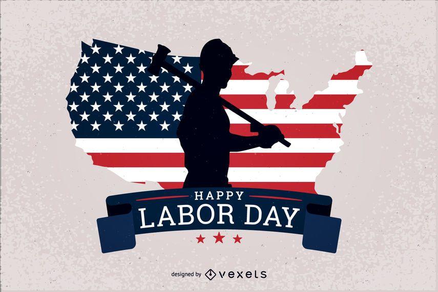 Projeto patriótico do Dia do Trabalhador dos EUA