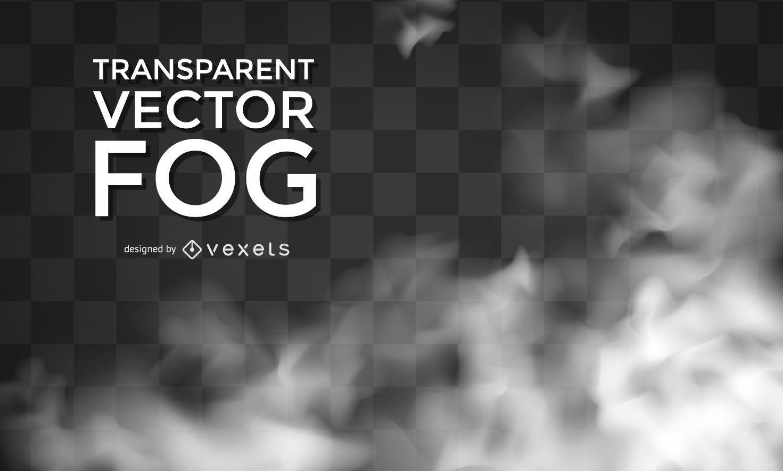 Realistic transparent vector fog
